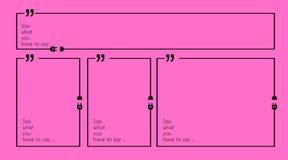 Citation Mark Frame avec le style plat et espace pour le texte Photographie stock