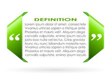 Citation symbol. Add your own text vector illustration