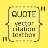 Citation text box. Frame for decoration quote and other information.  blank template.  bubble. Empty . Business card Royalty Free Stock Image