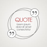 Citation text box. Frame for decoration quote and. Other information. Quote blank template. Quote bubble. Empty template. Business card template, paper sheet Stock Illustration