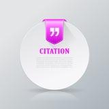 Citation text card Stock Photo