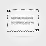 Citation in thin line postage stamp Stock Photo