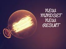 Citation typographique de motivation de nouveaux résultats de nouvelle mentalité, sur d Photo stock