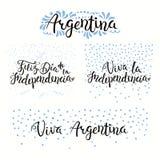 Citations de Jour de la Déclaration d'Indépendance de l'Argentine illustration stock
