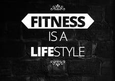 Citations de motivation de forme physique Photos stock
