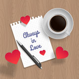 Citationstecken: Alltid förälskat royaltyfri illustrationer