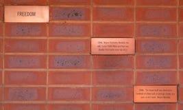 Citationstecken av Mandela, Mandela hus i Soweto Arkivfoto
