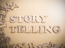 Citationstecken begrepp, berätta för ord för självutveckling Motivational för berättelse arkivbilder
