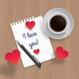 Citationstecken: Jag älskar dig stock illustrationer