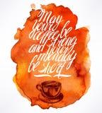 Citationstecken- och morgonkaffe stock illustrationer