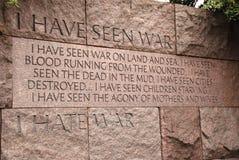 Citazione al Franklin D Roosevelt Memorial Fotografia Stock