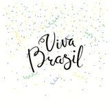 Citazione dell'iscrizione di Viva Brazil illustrazione di stock