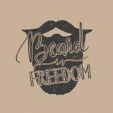 Citazione della barba di vettore Immagine Stock Libera da Diritti