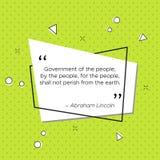 Citazione di Abraham Lincoln circa il governo royalty illustrazione gratis