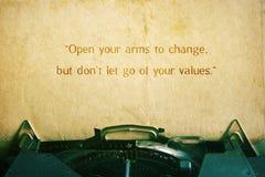 Citazione di ispirazione Fotografia Stock Libera da Diritti