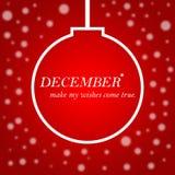Citazione di motivazione di vita con il fondo di Natale l ispiratrice Fotografie Stock Libere da Diritti
