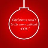 Citazione di motivazione di vita con il fondo di Natale l ispiratrice Fotografia Stock