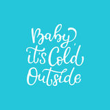 Citazione disegnata a mano di vettore Bambino è esterno freddo bianco Fotografie Stock Libere da Diritti