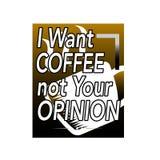 Citazione e detto del caff? Voglio il caff? il non vostro parere Citazione del caff? e meglio dire per le merci grafiche illustrazione di stock