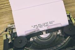 Citazione ispiratrice di vita fotografie stock