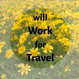 Citazione ispiratrice sul fondo vago del giardino di fiori Fotografia Stock Libera da Diritti