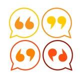 Citazione Mark Colorful Set dell'icona di citazioni illustrazione vettoriale