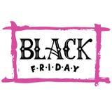 Citazione moderna dell'a mano iscrizione di Black Friday di calligrafia Immagine Stock