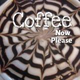 Citazione sul fondo della foto del caffè Fotografie Stock