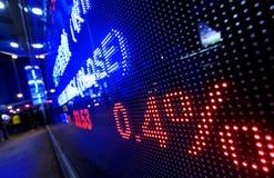 Citazioni del mercato azionario Immagine Stock Libera da Diritti