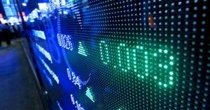 Citazioni del mercato azionario Immagini Stock