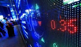 Citazioni del mercato azionario Fotografia Stock