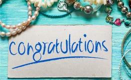 Citazioni ispiratrici di congratulazioni Fotografie Stock