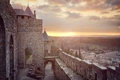 Cite de Carcasona, Francia Foto de archivo libre de regalías