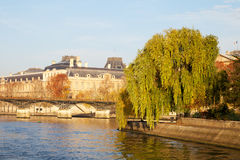 Cite island in Paris, France. Seine river and Cite island in Paris, France stock photos