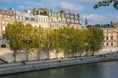Cite island in Paris Stock Photography
