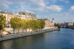 Cite island in Paris Royalty Free Stock Photos