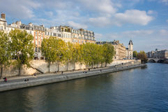 Cite island in Paris. Cite island in the historical centre of Paris, the capital and most visited city of France royalty free stock photo