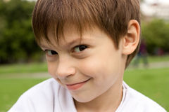 Cite kid. Portrait of a cute little boy outdoors Stock Photography
