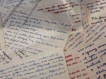 Cite las notas manuscritas por Ronald Reagan en la exhibición en Ronald Reagan Library en Simi Valley Foto de archivo