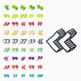 Cite o símbolo da marca de cotação do vetor da citação da cotação do símbolo do diálogo da bolha da mensagem do conceito do texto Imagem de Stock