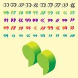 Cite o símbolo da marca de cotação do vetor da citação da cotação do símbolo do diálogo da bolha da mensagem do conceito do texto Imagem de Stock Royalty Free