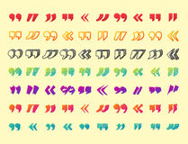Cite o símbolo da marca de cotação do vetor da citação da cotação do símbolo do diálogo da bolha da mensagem do conceito do texto Imagens de Stock