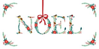 Citerar den gulliga dragen lantlig blom- jul för tappning handen royaltyfri illustrationer