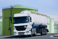 Citerne. Tanker on the road again Stock Photography