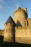Citez le medievale de Carcassone, France Photographie stock