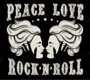 Citez le petit pain typographique de ` du ` n de roche d'amour de paix de ` de fond Photos libres de droits