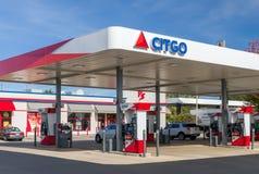 Citgo加油站外部和商标 免版税图库摄影