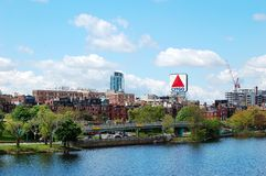 Citgo Sign, Boston Landmark. Citgo Sign, a Boston landmark in Kenmore Square. The sign marks one mile to go in the Boston Marathon and it is held in particular stock photos