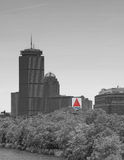 Citgo sign. Boston MA black and white Royalty Free Stock Image