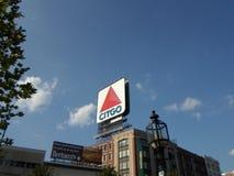 Citgo sign, Kenmore Square, Boston, Massachusetts, USA royalty free stock images